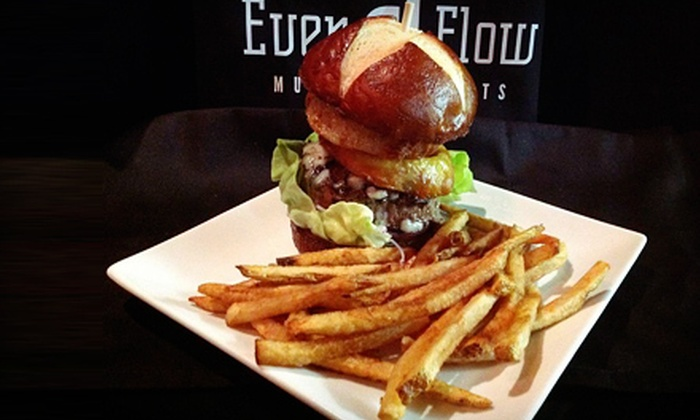 EvenFlow Music & Spirits - Geneva: $20 for $40 Worth of American Food on Tuesday–Thursday or Any Day at EvenFlow Music & Spirits