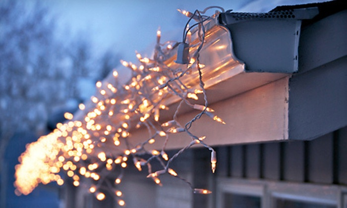 C.D. Northwest - Corbet - Terwilliger - Lair Hill: Christmas-Light Installation for a One- or Two-Story Home from C.D. Northwest (Up to 75% Off). Three Options Available.