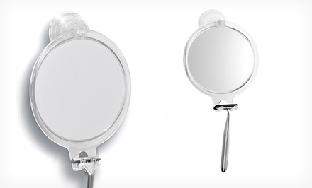 groupon daily deal - InterDesign Power-Lock Suction Fog-Free Mirror. Free Returns.