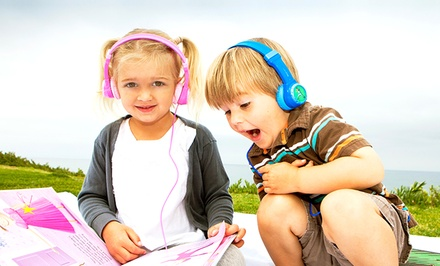 JLab JBuddies Volume-Safe Kids' Headphones in Black, Blue, Pink, or Purple