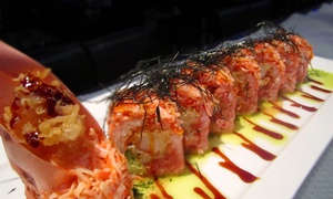 Blue Fish Japanese Restaurant and Lounge: Sushi Dinner with Sake at Blue Fish Japanese Restaurant and Lounge (Up to 49% Off). Two Options Available.