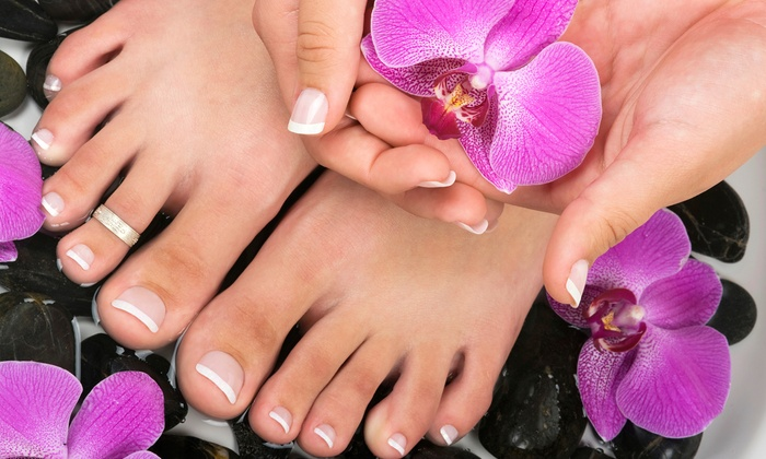 Lux Couture Nails - River: Mani-Pedi with Optional 30-Minute Massage, or a Manicure with a 30-Minute Massage at Lux Couture Nails (50% Off)