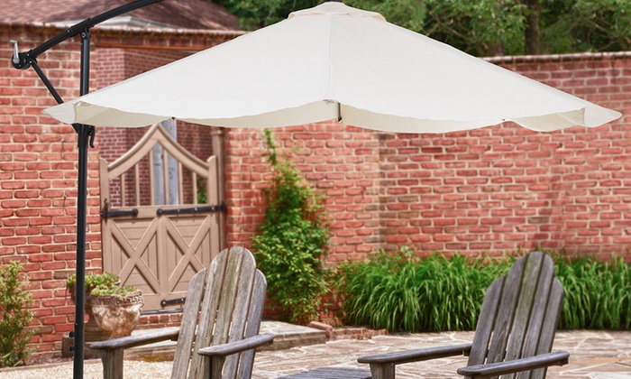Pure Garden Aluminum Hanging Patio Umbrella: Pure Garden Aluminum Hanging  Patio Umbrella ...