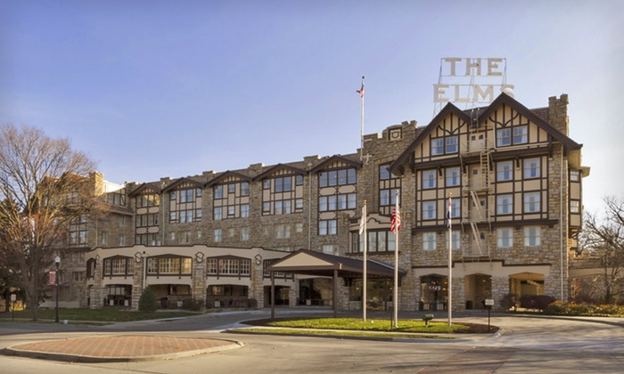The Elms Hotel & Spa - Excelsior Springs: One- or Two-Night Stay with Optional Grotto Access and Hotel Credit at The Elms Hotel & Spa in Greater Kansas City