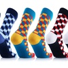 UGLYSOX Crew-Length Compression Socks for Men and Women (6-Pack)