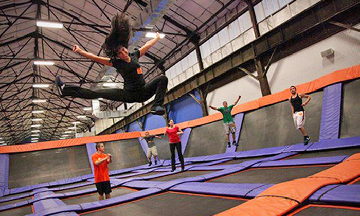 Sky Zone Providence - East Providence: $14 for Two 60-Minute Jump Passes at Sky Zone Providence ($26 Value)