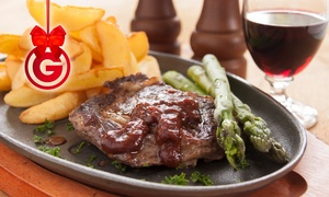 Vincenzo's Restaurant: Sirloin and Wine For Two or Four from £19 at Vincenzo's (Up to 51% Off)