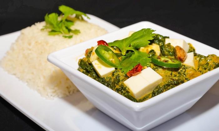 Taja Indian - Taja Indian: Fresh-to-Order Fast Indian Cuisine at Taja Indian (35% Off). Two Options Available.
