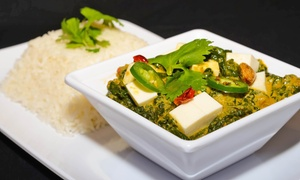 Taja Indian: Fresh-to-Order Fast Indian Cuisine at Taja Indian (35% Off). Two Options Available.