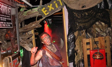 Haunted House General Admission or Blood Experience at Halls of Horror (Up to 35% Off)