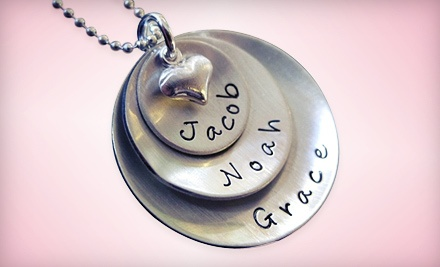 Personalized Jewelry from AJ's Collection (Up to 55% Off). Three Options Available. *