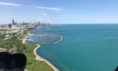 image for Up to 24% Off 35-Minute Chicago <strong>Helicopter</strong> Day or Night Tour for Two or Three from SummerSkyz