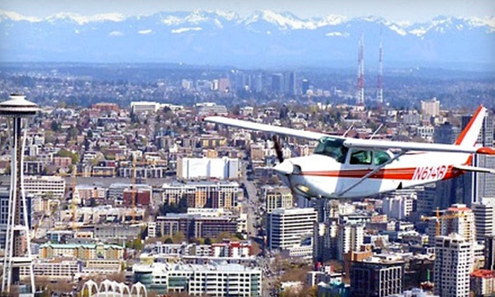 Seattle Scenic Flights - Georgetown: 30- or 60-Minute Sightseeing Flight for Up to Three from Seattle Scenic Flights (Up to 64% Off)