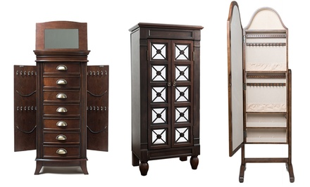 groupon daily deal - Hives & Honey Jewelry Armoires or Mirror. Multiple Styles from $159.99–$209.99.