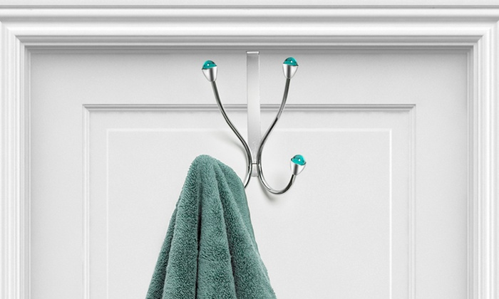 Chrome Jeweled Over-the-Door Towel Holders: Chrome Jeweled Over-the-Door Towel Holders. Multiple Models and Colors Available from $8.99–$10.99. Free Returns.