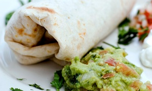 Rosa Maria's: Burrito or Combo Meal for Two, or 18-Inch Burrito at Rosa Maria's (Up to 50% Off)