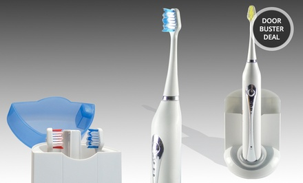 Advanced UltraSonic Toothbrush with UV Sanitizer in Sky Blue or Twilight Gray