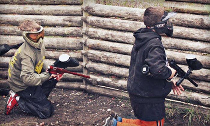 The Edge Paintball Adventures - Park: Full-Day Paintball Session with Equipment for 2, 3, 4, 8, 12, or 14 at The Edge Paintball Adventures (Up to 72% Off)