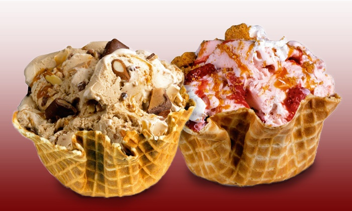 Cold Stone Creamery - Oak Park: Two or Four Waffle-Bowl Ice-Cream Creations or Eight Ice-Cream Sandwiches at Cold Stone Creamery (Up to 50% Off)