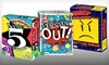 Party Board Games: Flippin' Out, Name 5, or Anger Management Party Board Games (Up to 40% Off)