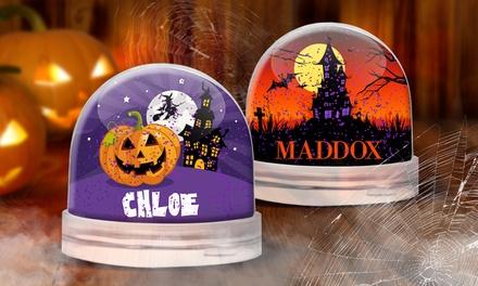 One or Two Personalised Halloween Glitter Globes from Dinkleboo (Up to 53% Off)