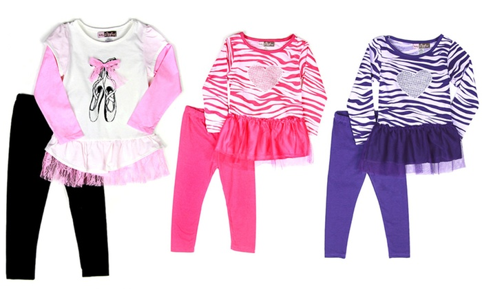 Ziggles 2-Piece Toddler Girl Set with Tunic and Leggings: Ziggles 2-Piece Toddler Girls' Set with Tunic and Leggings. Multiple Styles Available. Free Returns.