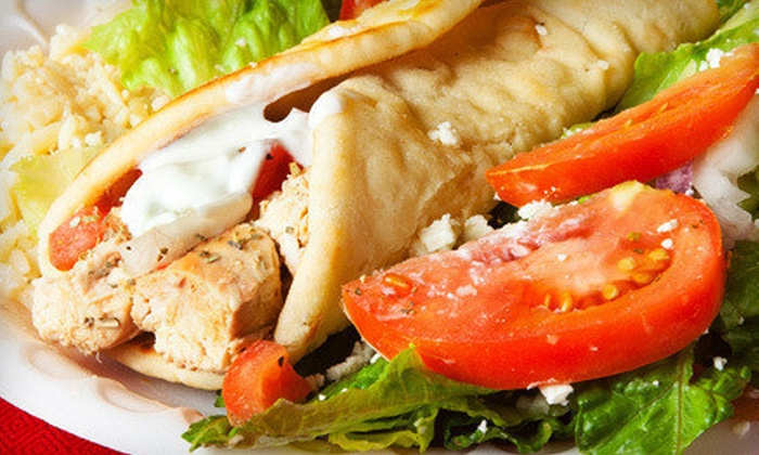 Greek House Cafe - Santa Barbara: $10 for Two Vouchers, Each Worth $10 Worth of Greek Food at Greek House Cafe ($20 Value)