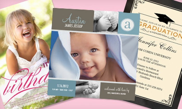 SimplytoImpress: Custom Cards, Invitations, and Announcements from SimplytoImpress (55% Off). Two Options Available.