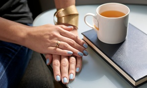 Perla's Beauty Center: Shellac Polish and Dry Manicure on One or Two Visits at Perla's Beauty Center (Up to 42% Off)