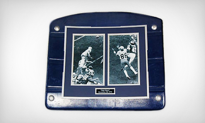 """The Cowboy House - The Cowboy House: $99 for a Texas Stadium Seat Bottom with 8""""x10"""" Photo with Logo from The Cowboy House ($209 Value). Four Options Available."""