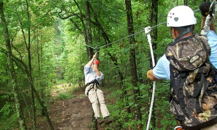 Ziplining and Mammoth Cave Drop Tower for One or Two at Mammoth Cave Adventures (Up to 51% Off)