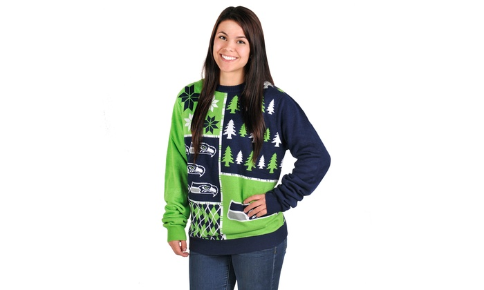 reputable site b64f7 07feb NFL Ugly Sweaters Busy Block | Groupon