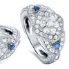 3/4 CTTW Blue & White Diamond Ring in 14K Gold by Bliss Diamond