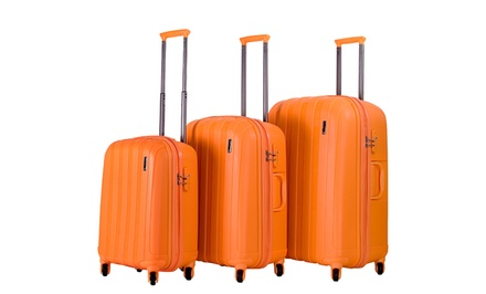 groupon daily deal - CalPack Paradise 3-Piece Hard-Sided Luggage Set. Multiple Colors Available. Free Returns.