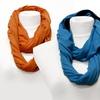 Two-Tone Infinity Knit Scarf