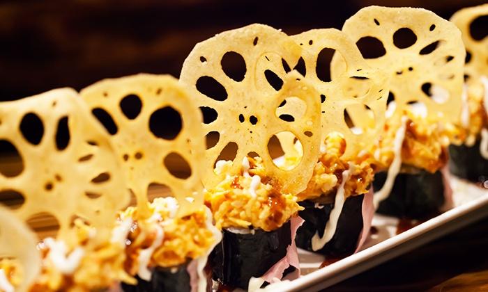 Japanese fusion cuisine atun sushi yakitori groupon for Akane japanese fusion cuisine