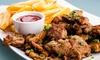 Hotel Restaurant Inos - Hotel Restaurant Inos: 3-Gänge-Grillteller-Menü inkl. Ouzo für ein, zwei oder vier Personen im Hotel Restaurant Inos (bis zu 42% sparen*)