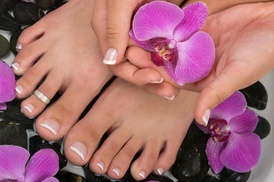 Diamondndbootssalon: A Spa Manicure and Pedicure from Diamondndbootssalon (54% Off)