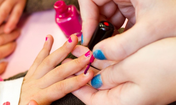 Scooops Kid Spa Salon - College Hills,Pheasant Branch: Mom & Me Manicure for Two or Four, or Birthday Package with Manicure and Makeup at Scooops Kid Spa Salon (Up to 54% Off)