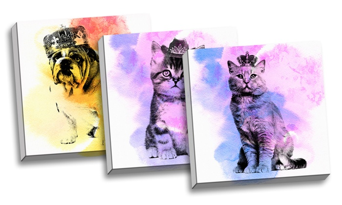Vintage Pet Art on Canvas: Vintage Pet Art on Canvas. Multiple Prints Available. Free Returns.