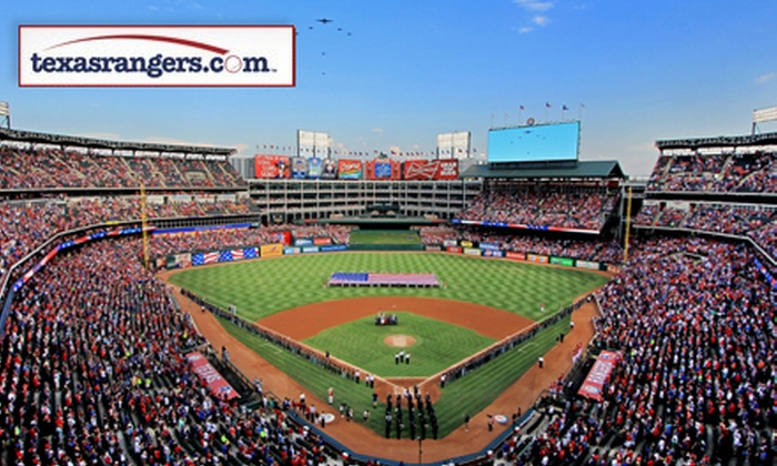 Texas Rangers - Globe Life Park in Arlington: Texas Rangers Game at Rangers Ballpark on August 18, 21, or 30 (Up to 41% Off). Two Seating Options Available.