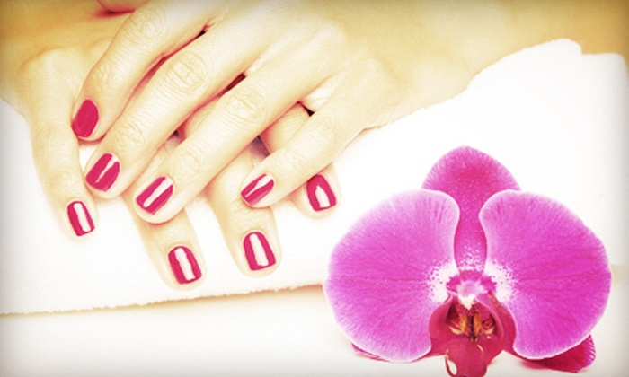 C.A. Nails - West Omaha: $22 for a Shellac Manicure at C.A. Nails ($45 Value)