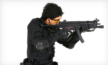 All-Day Airsoft Session with Rental Gun, Mask, and 1,000 Rounds for 2, 4, 6, or 10 at Playland (Up to 69% Off)