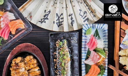 4Course Japanese Dinner + Sides & Wine $29, 2 $55 or 4 People $99 at Ginza Japanese Restaurant Up to $246