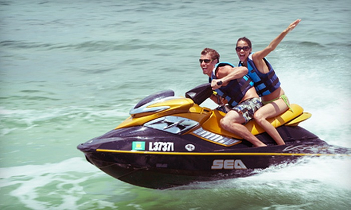 Aqua Ryderz - Enterprise Commercial Park: 4- or 12-Hour Rental of One or Two Jet Skis at Aqua Ryderz (Up to 67% Off)
