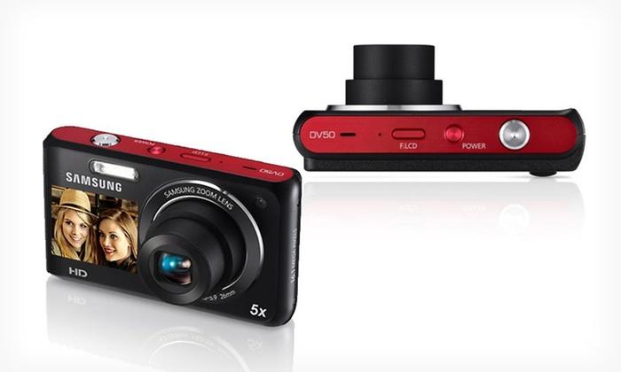 Samsung Dual-View 16MP HD Digital Camera: $79.99 for a Samsung DV-50 Dual-View 16MP HD Digital Camera ($109.99 List Price)