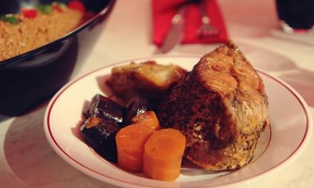 Menu africain avec entrée, plat et dessert pour 2 ou 4 personnes, dès 44,90 € au restaurant Le Griot