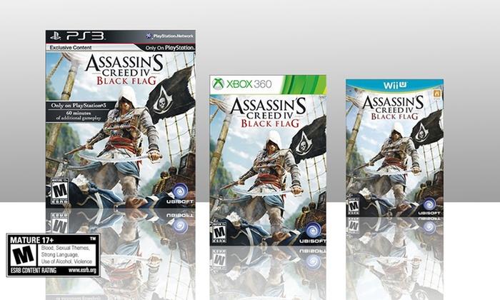 Assassin's Creed IV: Black Flag: Assassin's Creed IV: Black Flag for Nintendo Wii U, PlayStation 3, or Xbox 360.