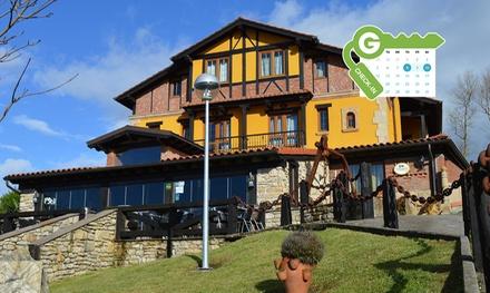 Cantabria: estancia en habitación doble con desayuno y cena regional o masaje para 2 personas en Posada el Valle