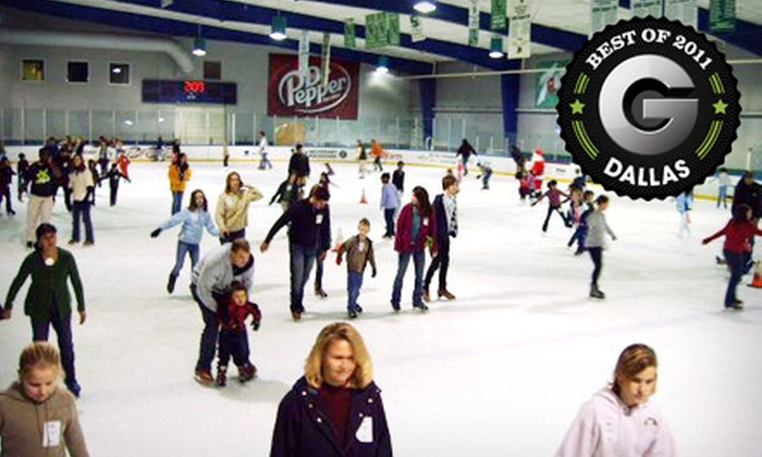 Dr Pepper StarCenter - Multiple Locations: Ice-Skating Outing with Skate Rental for Two or Four at Dr Pepper StarCenter (Up to Half Off)